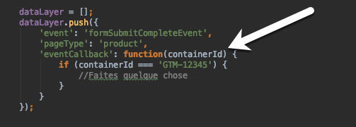eventCallback ContainerId
